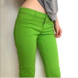 Hollister Green 5 Pocket Skinny Jeans